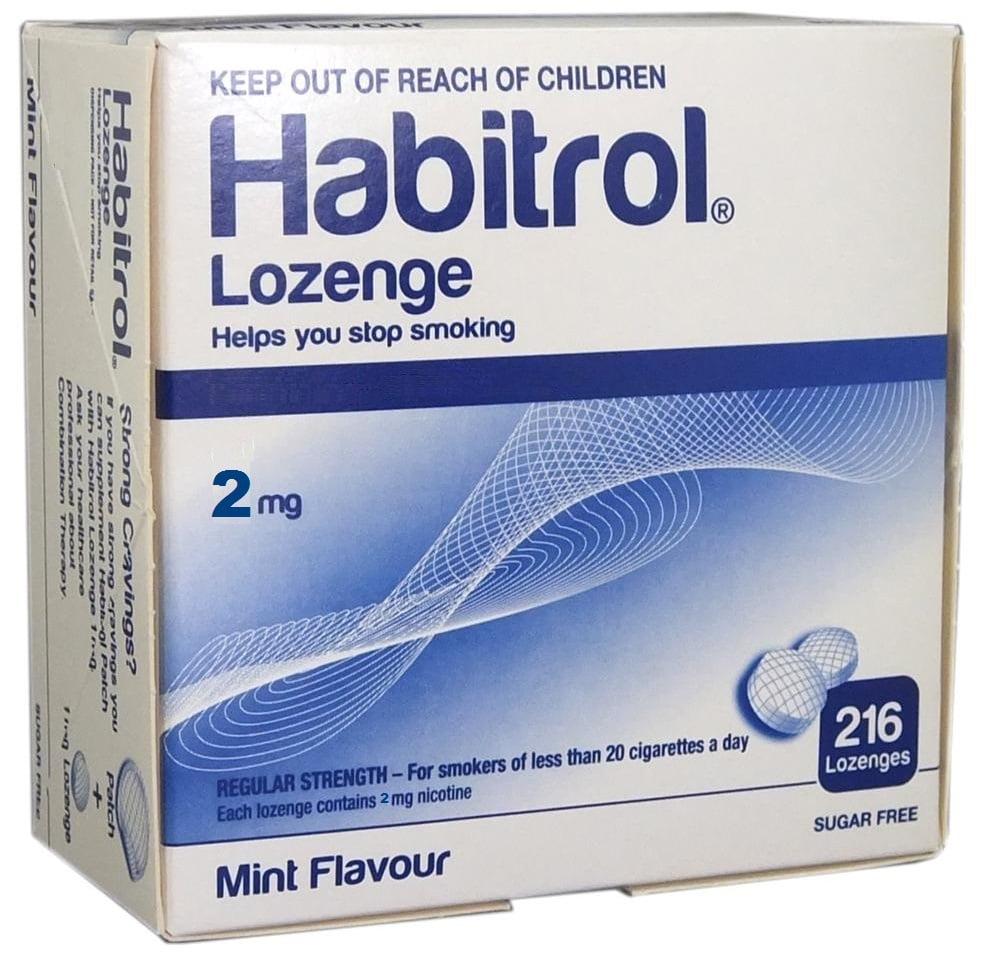 Habitrol Nicotine Lozenge 2mg Mint Flavor 216ct Bulk Box