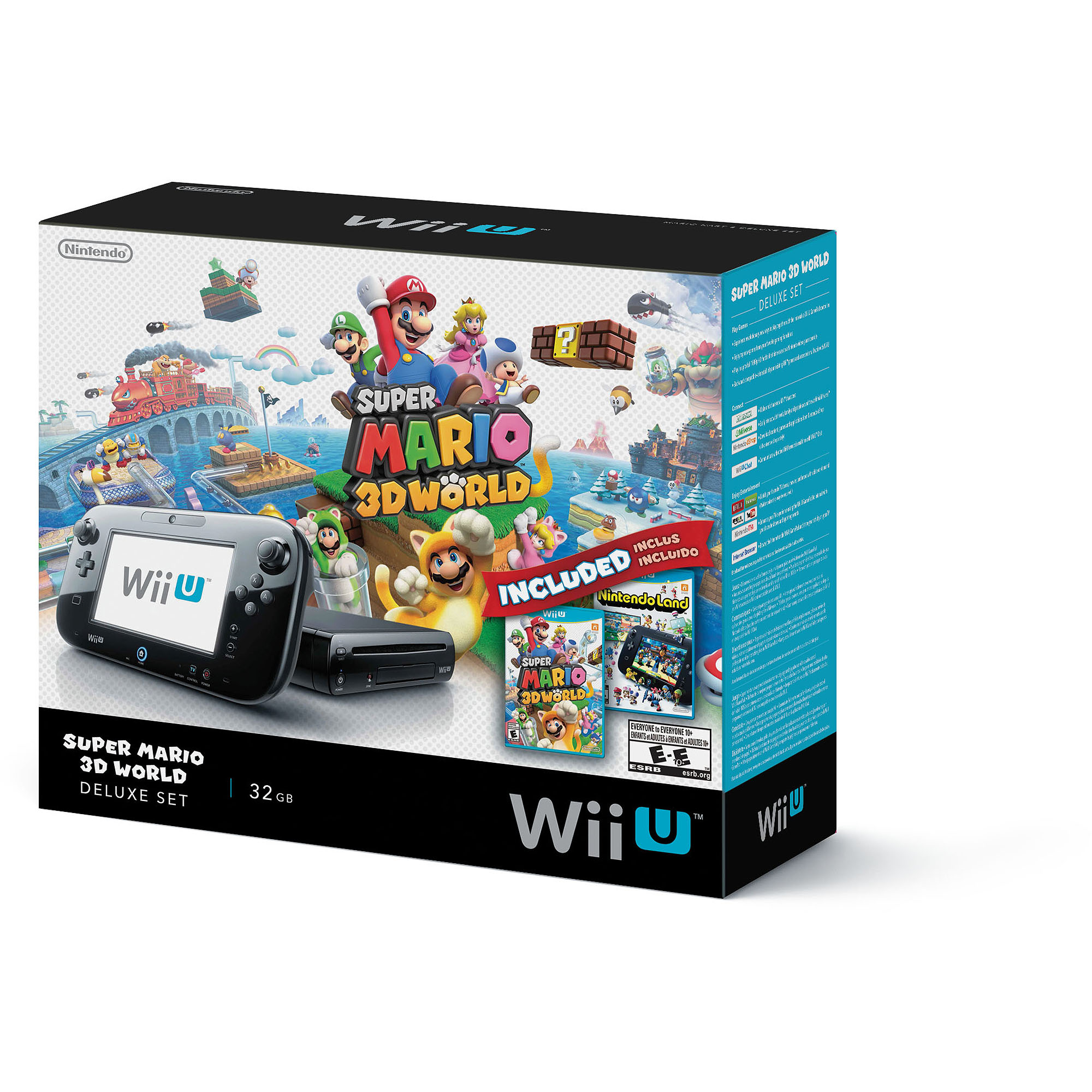 Nintendo Wii U Super Mario 3D World Deluxe Set Console
