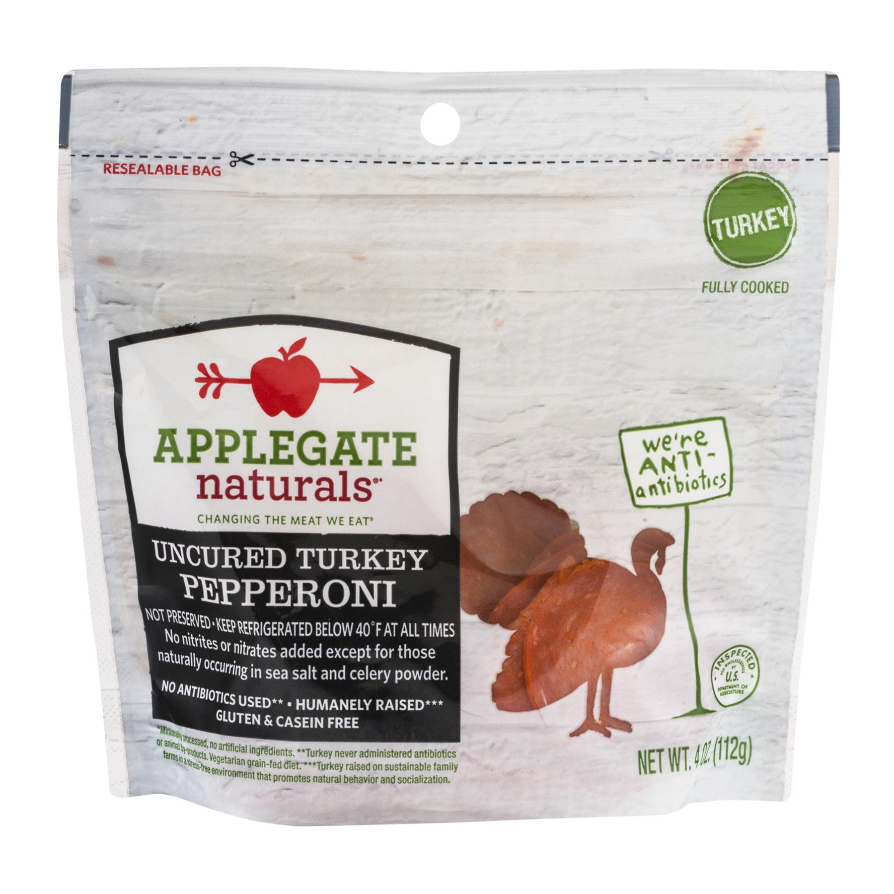 Applegate, Natural Uncured Turkey Pepperoni, 4oz, 4.0 OZ