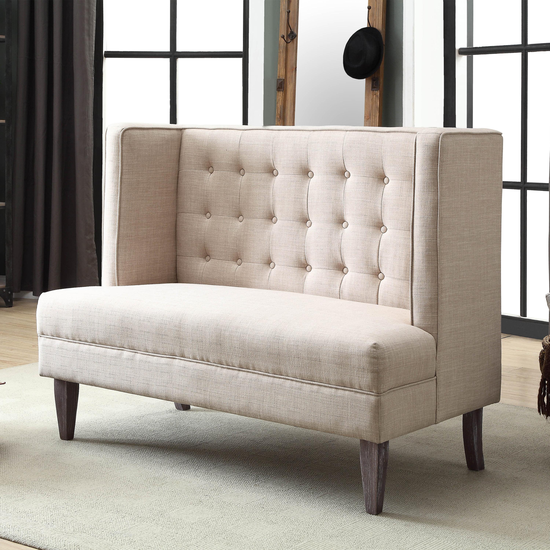 Furniture Of America Monaco Upholstered High Back Dining Bench Beige Walmart Com Walmart Com