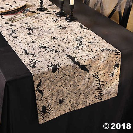 Black & White Halloween Table Runner - Halloween Deco - Deco Table Pour Halloween