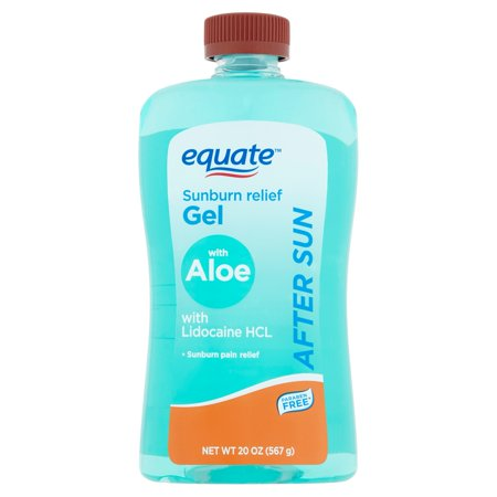 (3 pack) Equate After Sun Sunburn Relief Gel with Aloe, 20