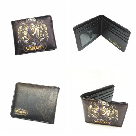 Superheroes World of Warcraft Lion Crest WOW Bi-fold Mens Boys Wallet with Gift Box