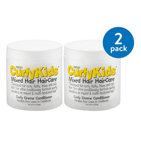 Mix Leave - CurlyKids Mixed Texture HairCare Curly Creme Leave in Conditioner, 6 oz (Pack of 2)