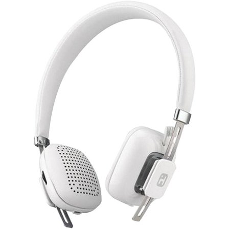 iHome iB81WC Over-Ear Bluetooth Wireless Headphones with Microphone, White