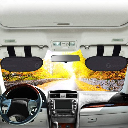 Zone Tech Car Anti-Glare Windshield Sun Visor - Anti-Glare Sun   UV Rays  Block Visor Extender for Any Car 79accd9115f