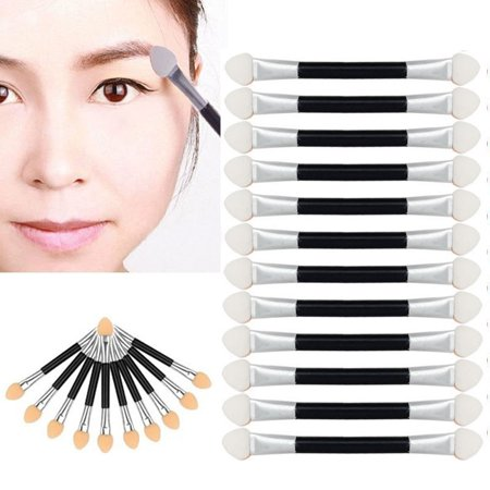 Eye Shadow Applicators (12Pcs Makeup Double-end Eye Shadow Eyeliner Brush Sponge Applicator)