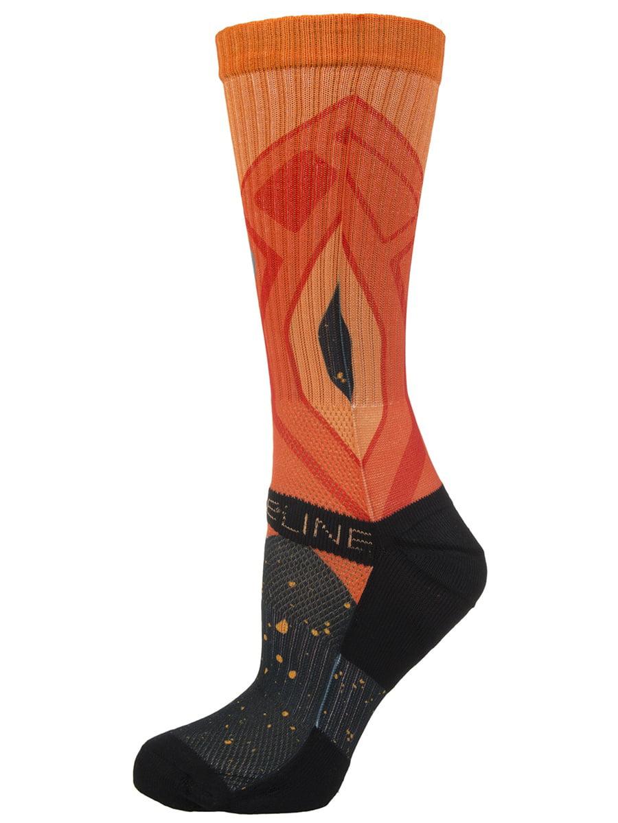 Strideline Athletic Crew Socks Optics Solar Flare 2600511 Strapped Men's Fit