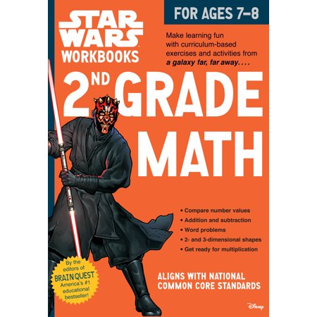 Star Wars Workbook: 2nd Grade Math - Paperback - Art Projects For Halloween 2nd Grade