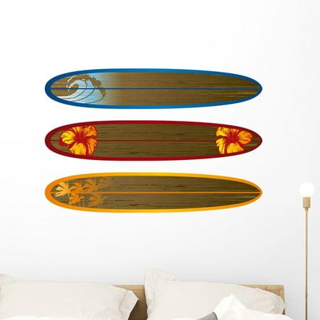 Longboard Balsa Wood Wall Mural Decal Sticker Wallmonkeys