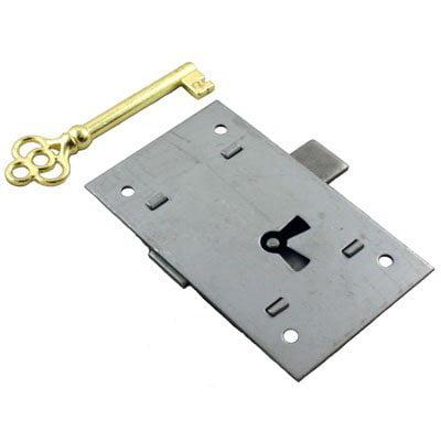 Steel Surface Flush Mount Cabinet Door or Drawer Lock Set - 1 3/4