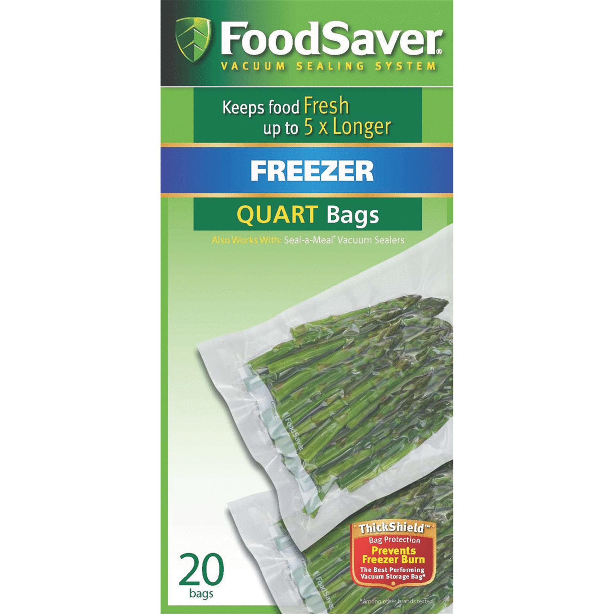Food Saver Seal-a-Meal Freezer Bags, Quart, 20 Ct