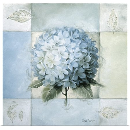 Great BIG Canvas   Rolled Lisa Audit Poster Print entitled Blue Hydrangea Study II