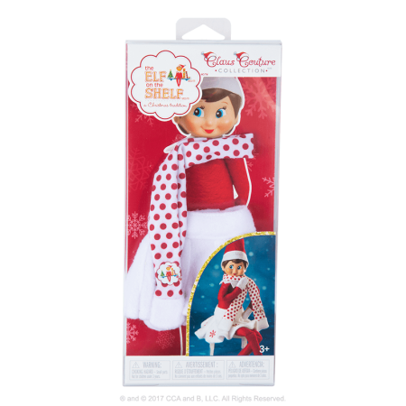 Exclusive 2017 The Elf on the Shelf Claus Couture Collection Snowflake Skirt & Scarf for $<!---->