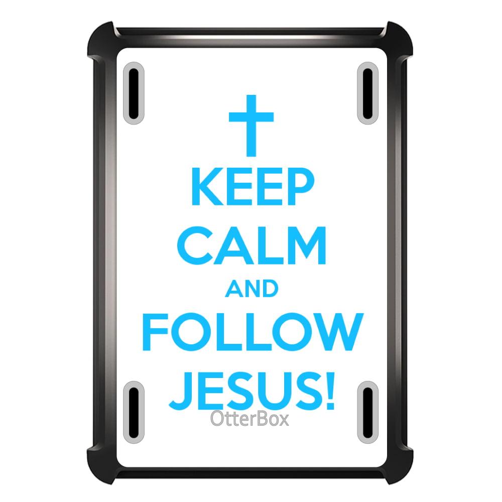 CUSTOM Black OtterBox Defender Series Case for Apple iPad Mini 4 - Keep Calm and Follow Jesus