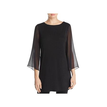 Eileen Fisher Womens Flare Sleeves Day To Night Tunic Top