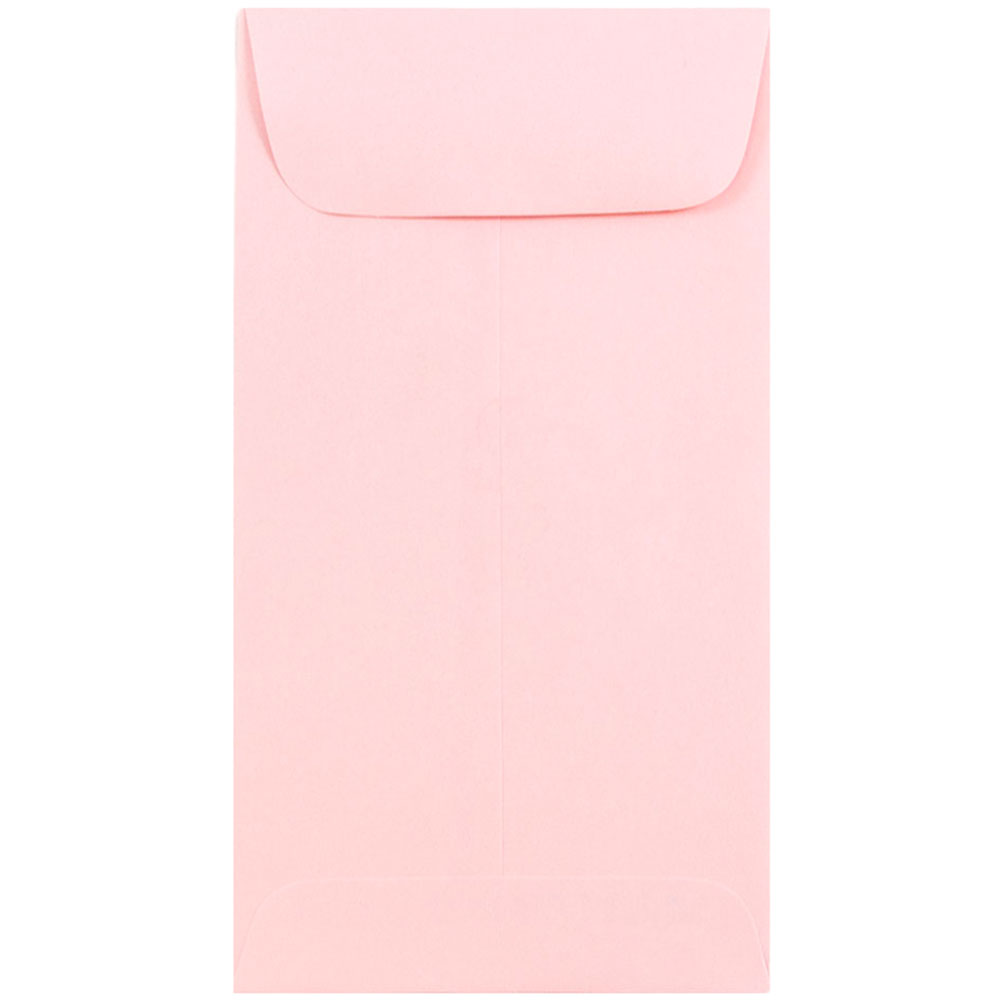 JAM 7 Coin Envelope, 3.5 x 6.5 inches, Baby Pink, 1000/ca...