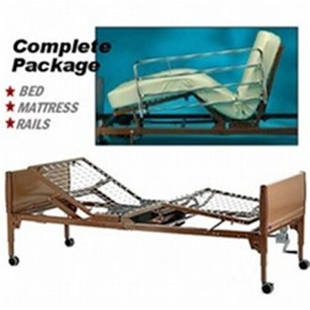- Invacare Homecare Full Electric Hospital Bed - Full Electric Bed with Innerspring Mattress and Choice of Rails