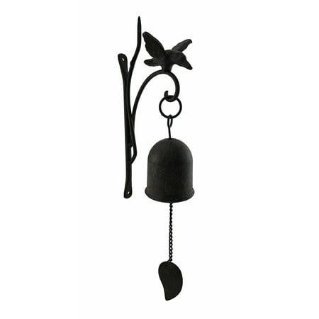 Aged Finish Cast Iron Decorative Hanging Hummingbird