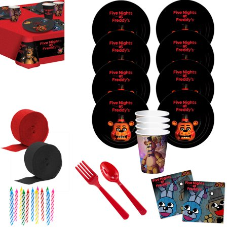 Five Nights at Freddy's Deluxe Tableware Kit (Serves 8) Caribbean Deluxe Party Kit