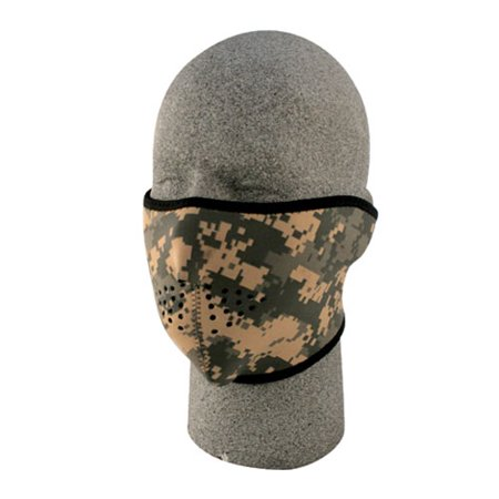 Zanheadgear WNFM015H  Neoprene 1/2 Face Mask, Digital Acu - Zanheadgear Face Mask