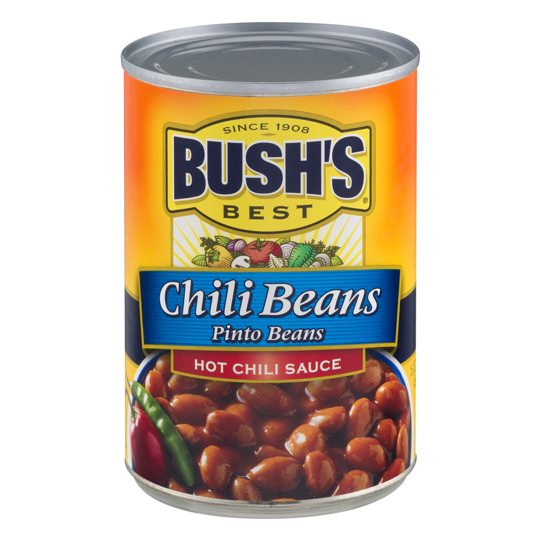 (6 Pack) BUSH'S Pinto Beans in a Hot Chili Sauce, 16 oz.