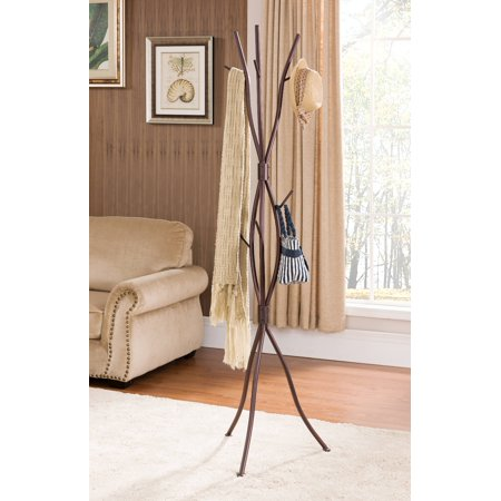 - Byron Bronze Metal 9 Hook Entryway Tree Branches Coat & Hat Rack Display Stand With Umbrella Stand