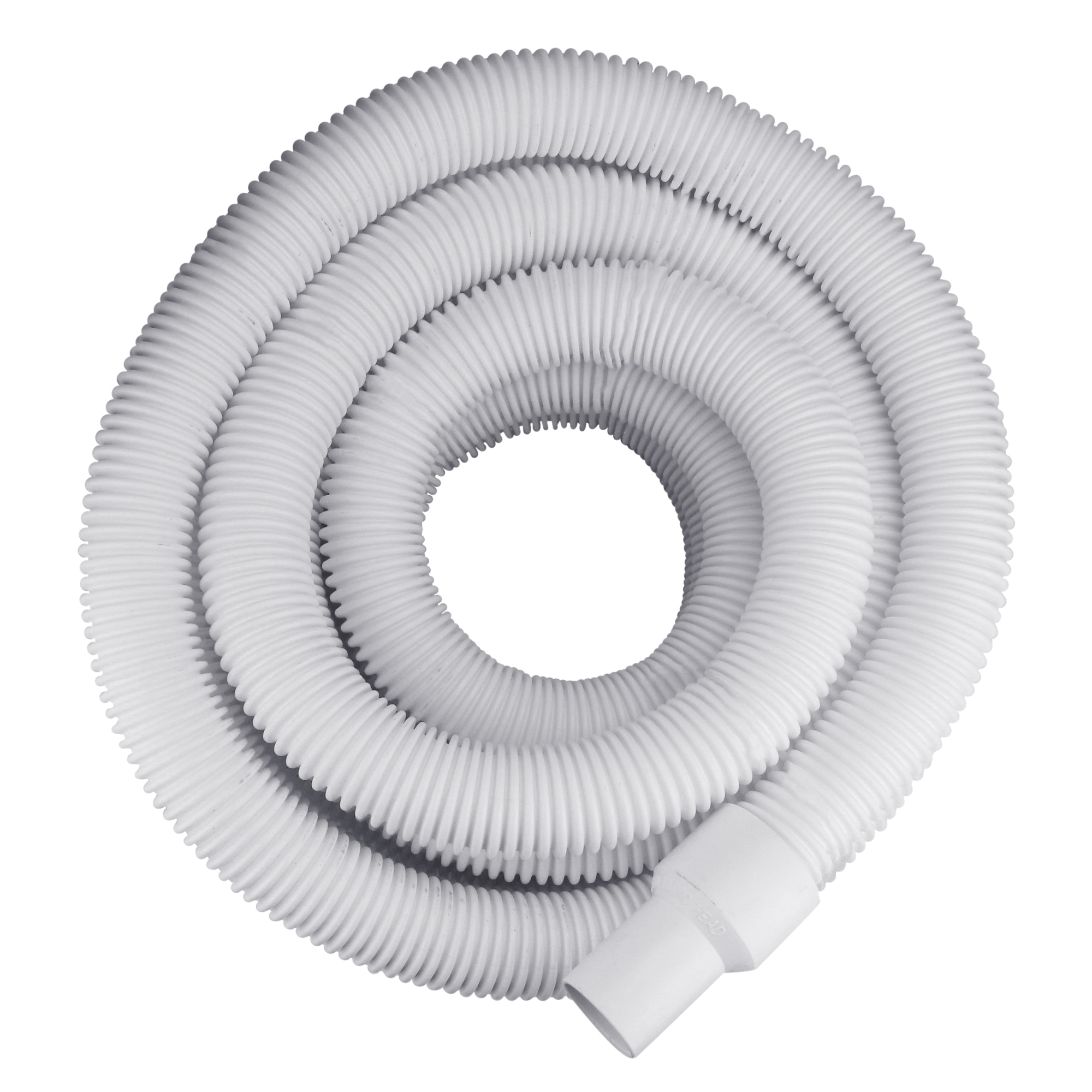"""White Blow-Molded LDPE In-Ground Swimming Pool Hose - 35' x 1.5"""""""
