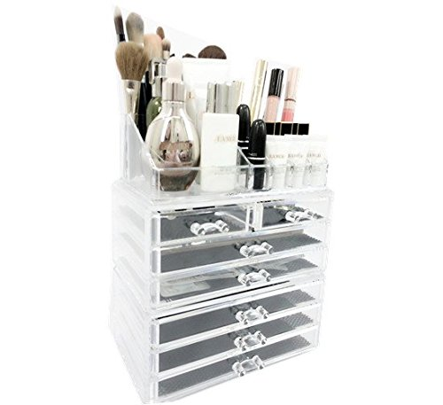 Unique Home Acrylic Jewelry and Cosmetic Storage Makeup Organizer