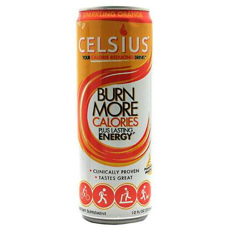 Celsius Live Fit Energy Drink, Orange, 12 Fl Oz, Pack of 12