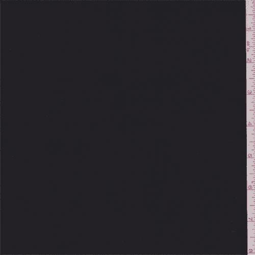 Black Silk Chiffon, Fabric By the Yard