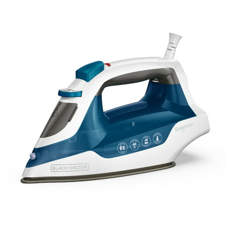 BLACK+DECKER Easy Steam Compact Iron, Blue/White, IR06V