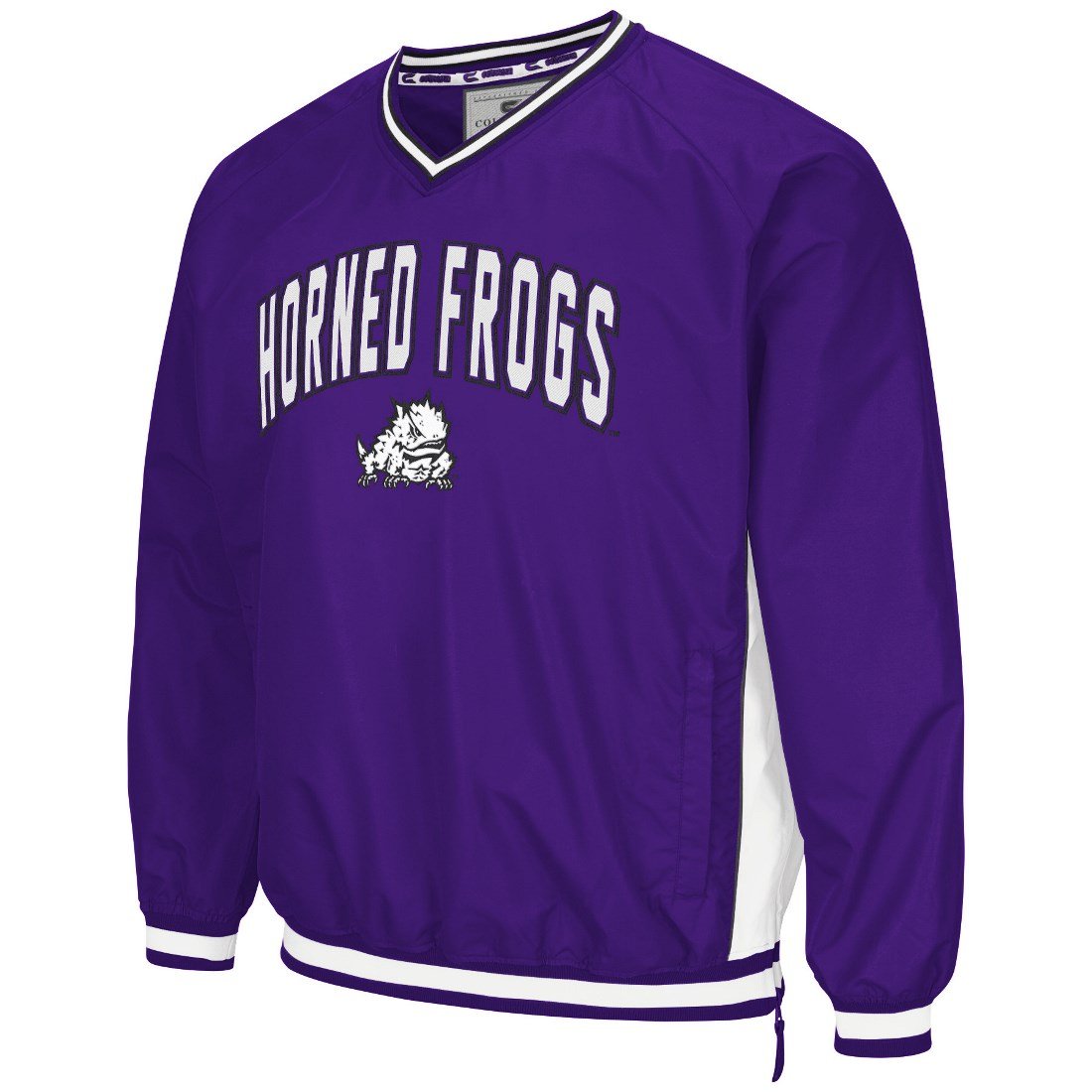 "TCU Horned Frogs NCAA ""Fair Catch"" Pullover Men's Jacket Purple by Colosseum"