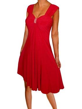 e03660c3767 Product Image Funfash Plus Size Clothing Women Empire Waist Slimming Midi Dress  Made in USA