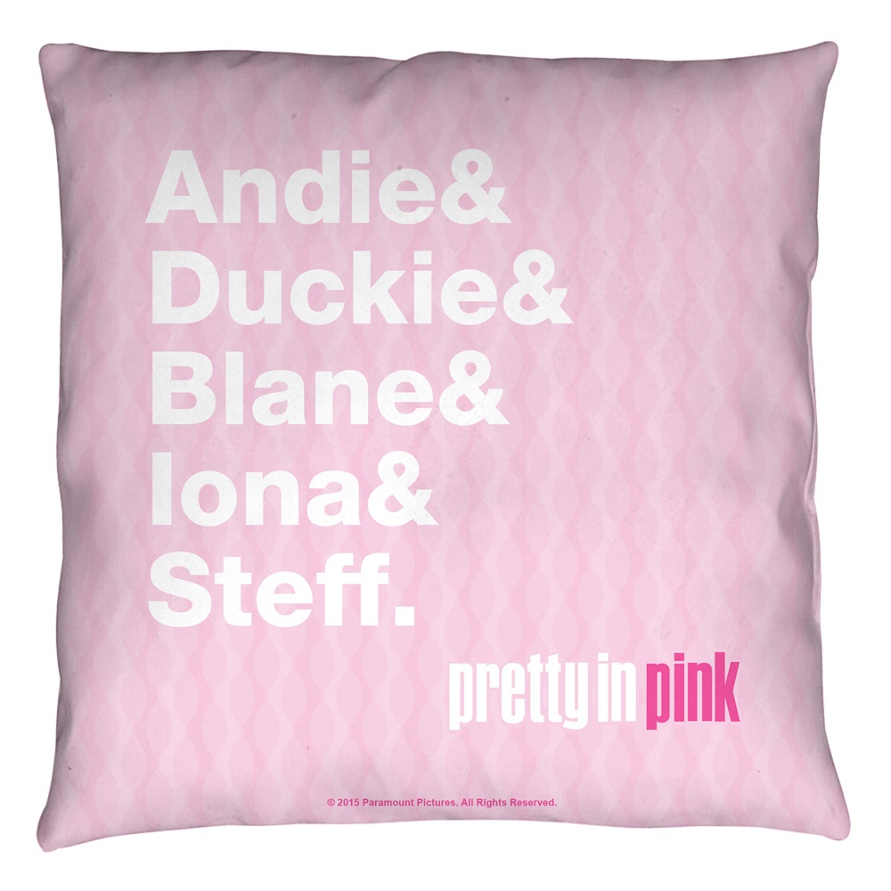 Pretty In Pink The List Throw Pillow White 20X20