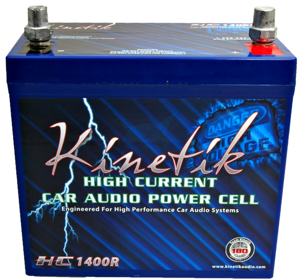 Kinetic HC1400R BLUE 1400 W 12V Reverse Polarity Car Audio Power Cell - Battery