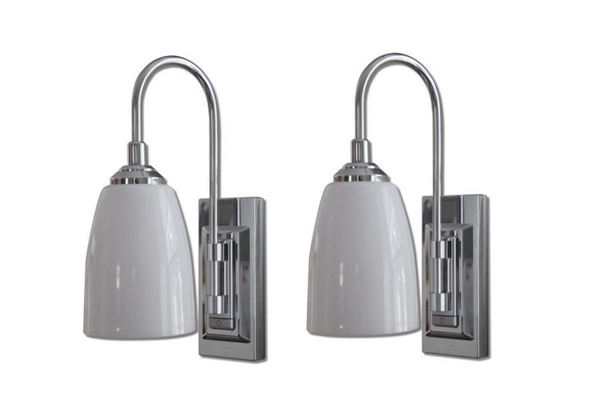 rite lite lpl780c led classic chrome wall sconce - Battery Operated Sconces