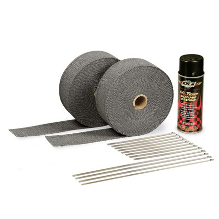 DEI Exhaust Wrap Kit - Black Wrap and Black HT Silicone Coating