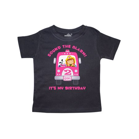 2cb0825a7 Inktastic - Fire Truck Girl 2nd Birthday Toddler T-Shirt - Walmart.com