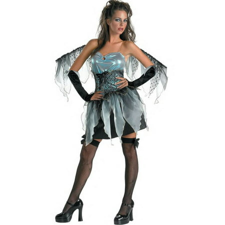 Large Fairy Wings (DARK ANGEL frost fairy womens sexy nymph wings halloween costume 12 14)