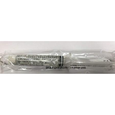 5pk - 10ml prefilled Syringe of Sterile Saline 0.9% Sodium Chloride ()