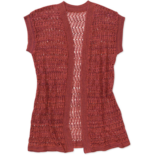 Women's Crochet Open Cardigan