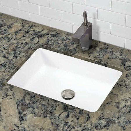 Decolav Lilli Clically Redefined Ceramic Rectangular Undermount Bathroom Sink With Overflow