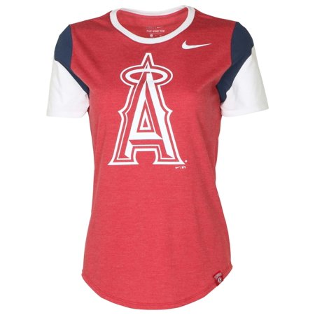 0ea30655 Nike Women's MLB Los Angeles Angels Tri-Blend T-Shirt-Gym Red Heather -  Walmart.com