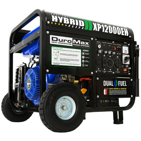 DuroMax XP12000EH Durable 12000 Watt 18 HP Portable Hybrid Gas Propane