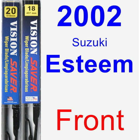 2002 Suzuki Esteem Wiper Blade Set/Kit (Front) (2 Blades) - Vision Saver