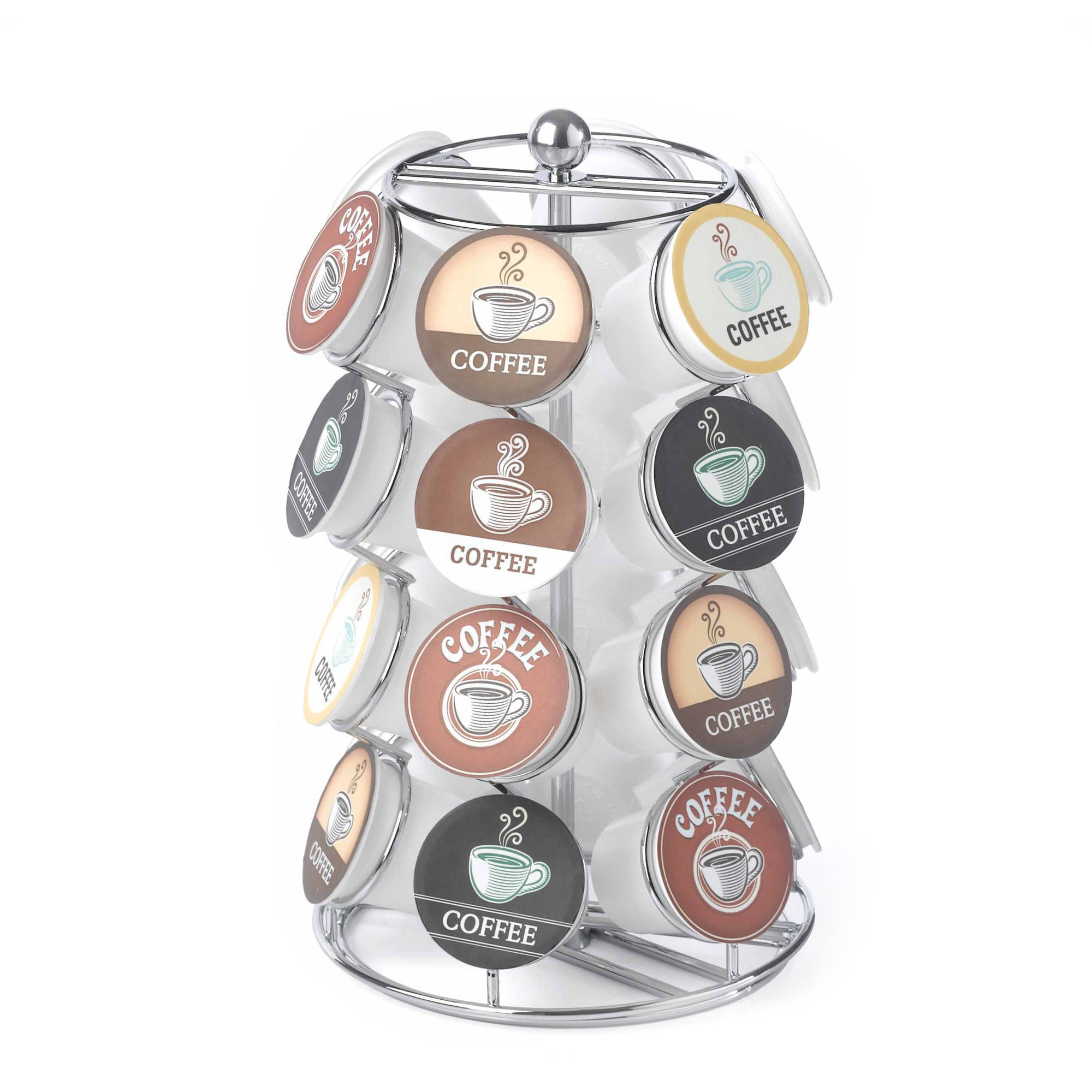 24 Capacity Coffee Pod Carousel in Chrome