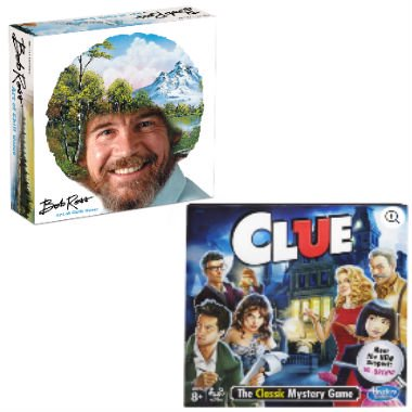 Bob Ross: Art of Chill Board Game and Clue Game Bundle