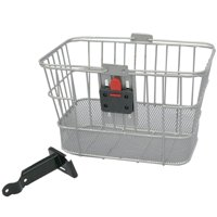 E-Cargo Quick Release Dual Steel Mesh Traveler Bicycle Front Basket - HT-518, Never Used By EVO