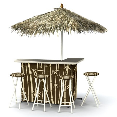 Best Of Times Indoor Outdoor Portable Bar With 4 Barstools
